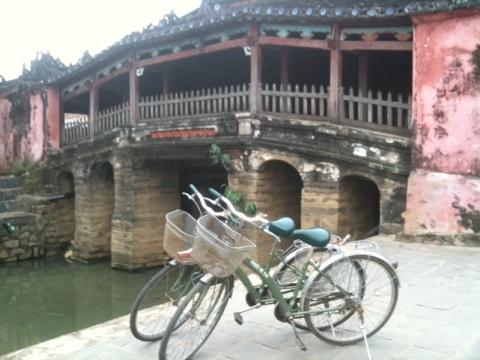 Japanische Bruecke in Hoi An, Vietnam
