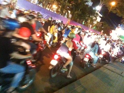 Abendverkehr, Saigon, Vietnam
