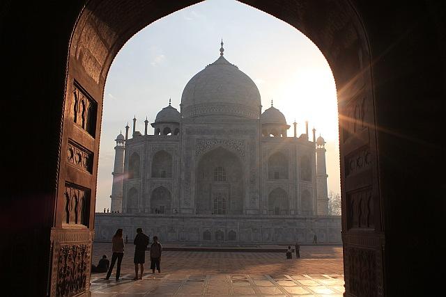 Taj Mahal von Westen