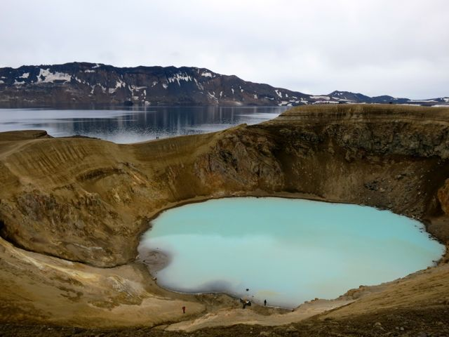 Mondlandschaft Askja mit Krater Viti